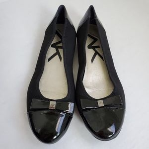 Anne Klein Sport Black Flats with bow